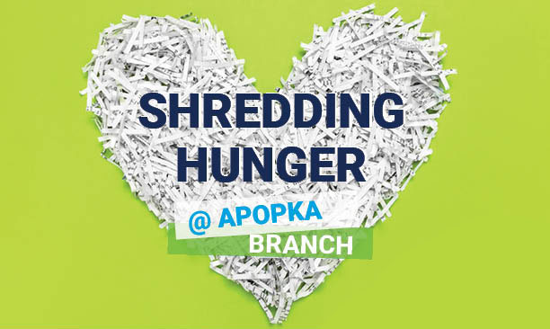 Safely Shred Your Documents While Helping Us Shred Hunger