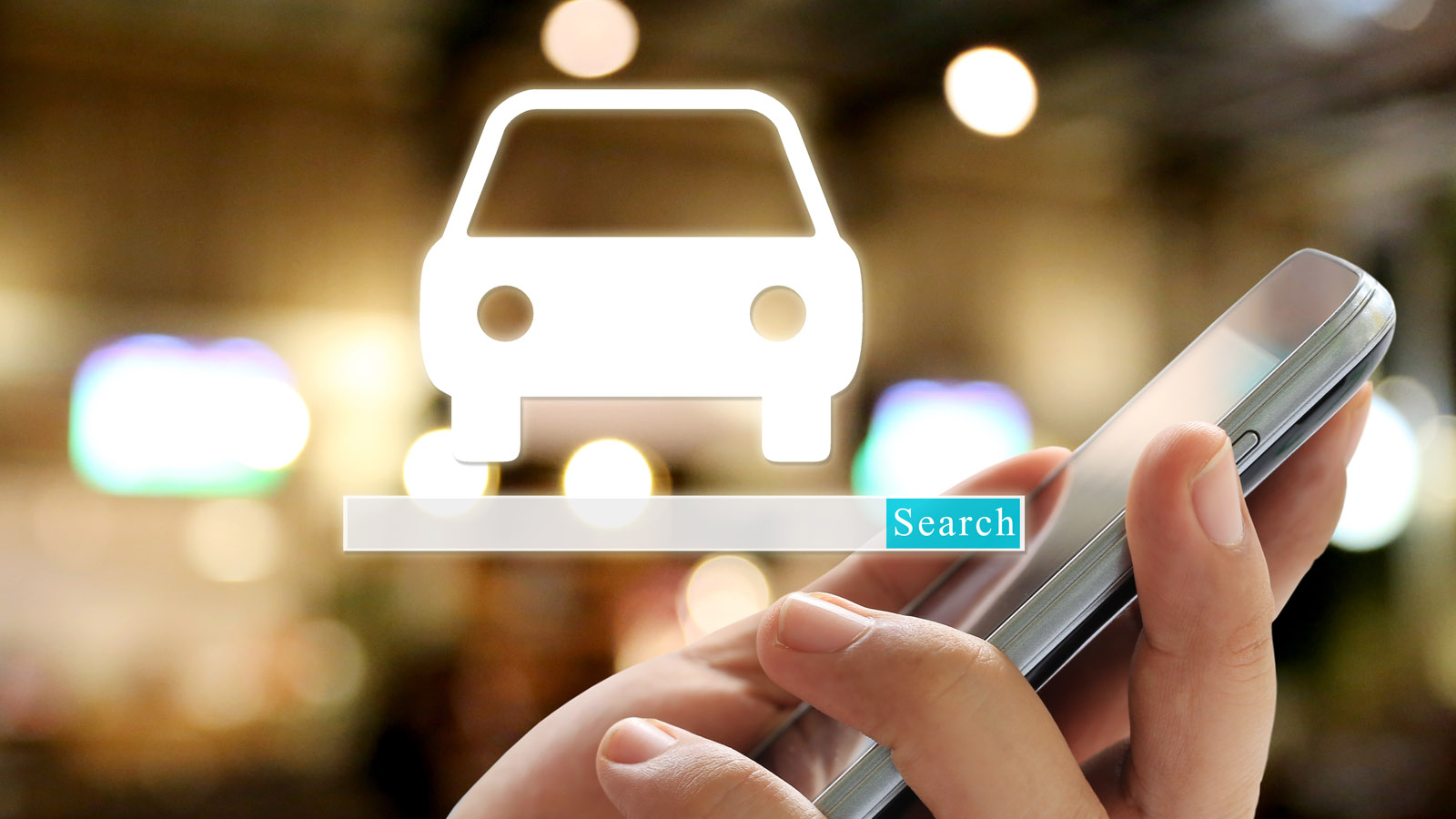 Using a smartphone to search for cars